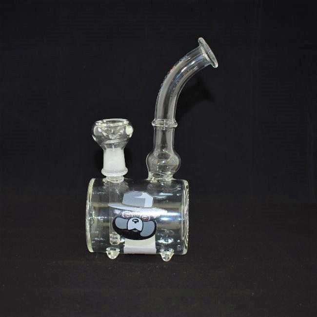 *CYLINDRICAL DESIGN GLASS  WATERPIPE (WP382)