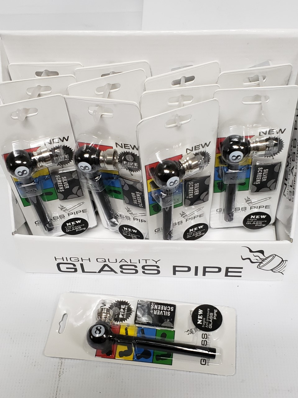 High Quality Glass Pipes Display of 12-DP12